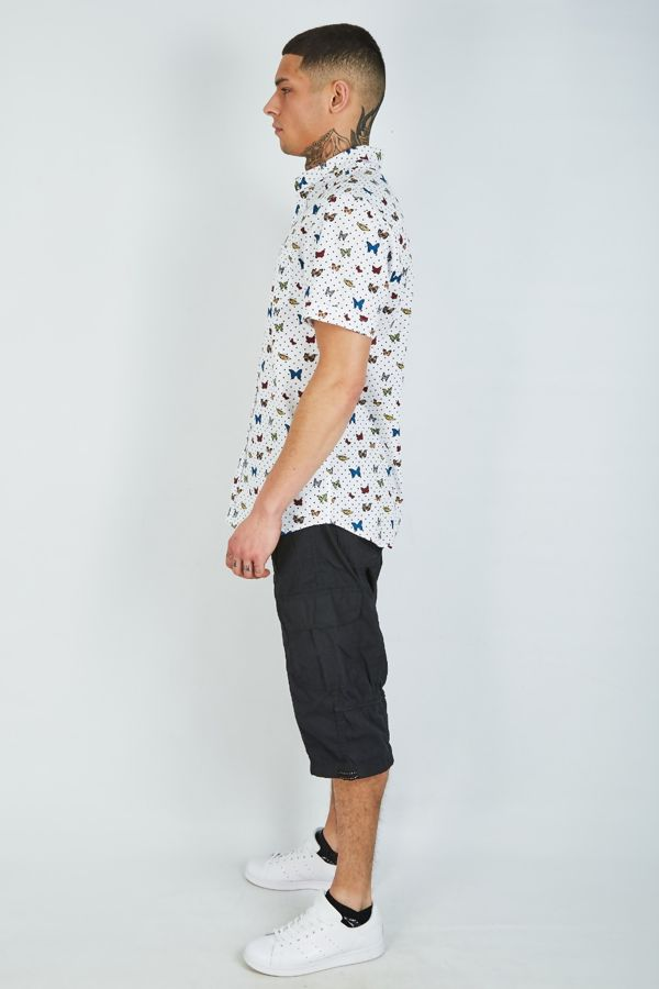 Black Long Cargo Shorts