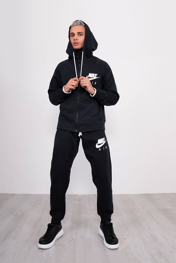 Black Nike Air AW77 Fleece Tracksuit