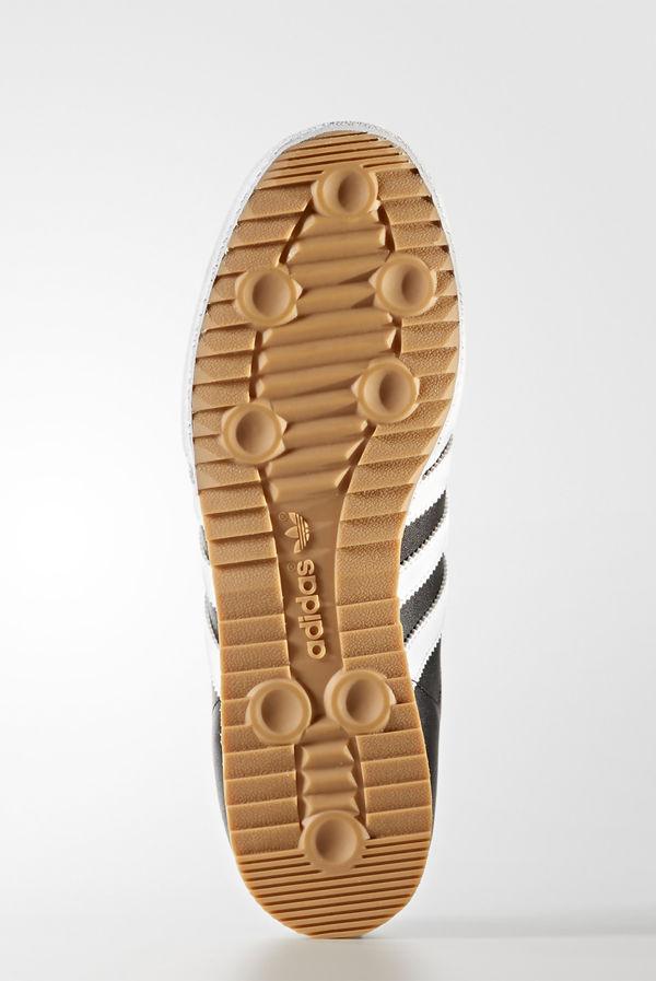 Black With White Adidas Samba Super Trainers