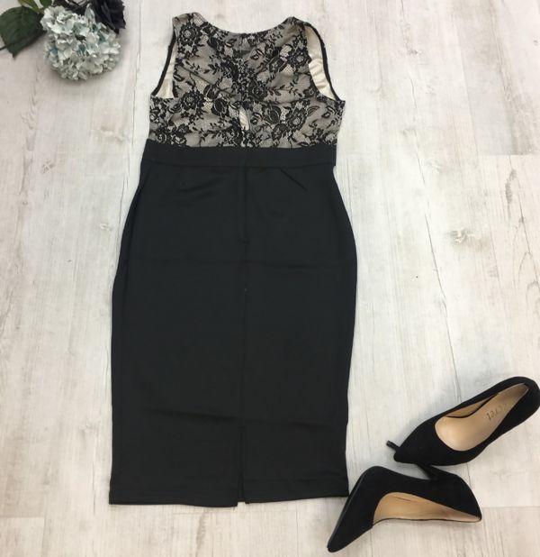 Black with Blouse Detail Dress