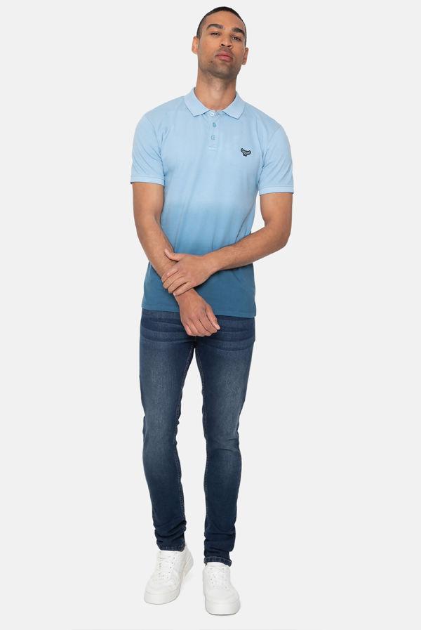 Blue Kingston Ombre Polo Shirt