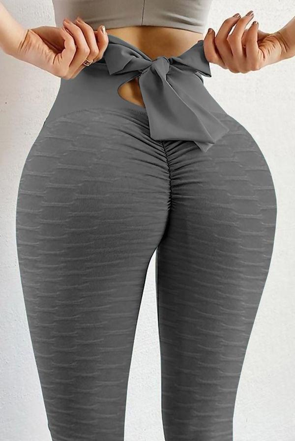 Bowknot Bubble Butt Lift Gym Leggings