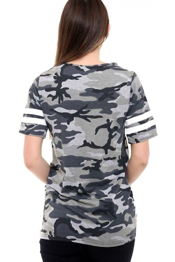 Camo New York Print Longline T-Shirt