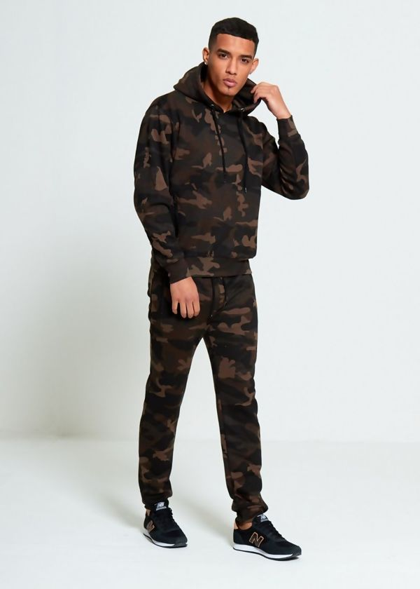 Camo Pullover Skinny Fit Tracksuit