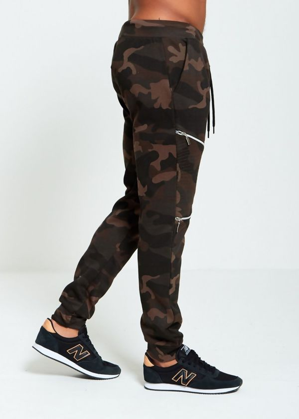 Camo Zipper Jogging Bottom