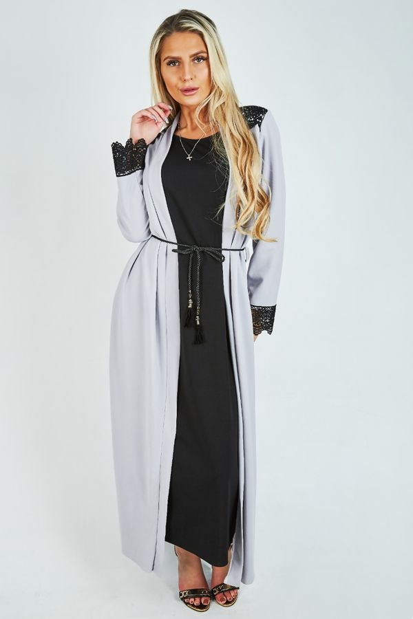 Cardigan Styled Maxi Dress