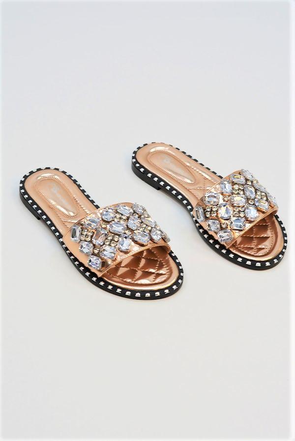 Champagne Diamante Sandals