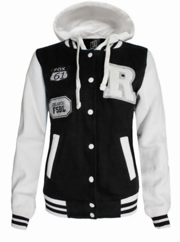 Charcoal Baseball R Hooded Jacket