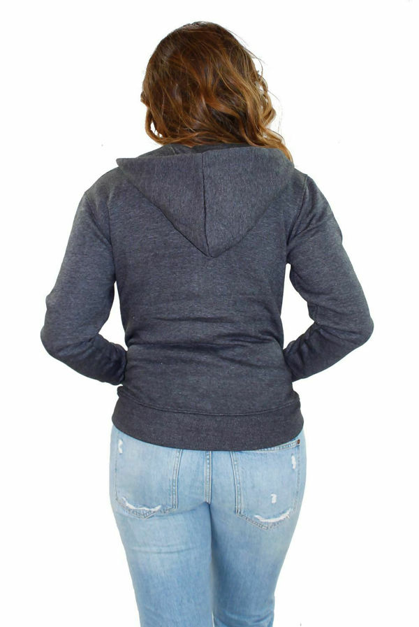Charcoal Basic Hooded Jacket