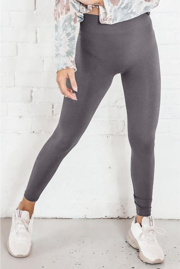 Charcoal Basic Seamless Leggings