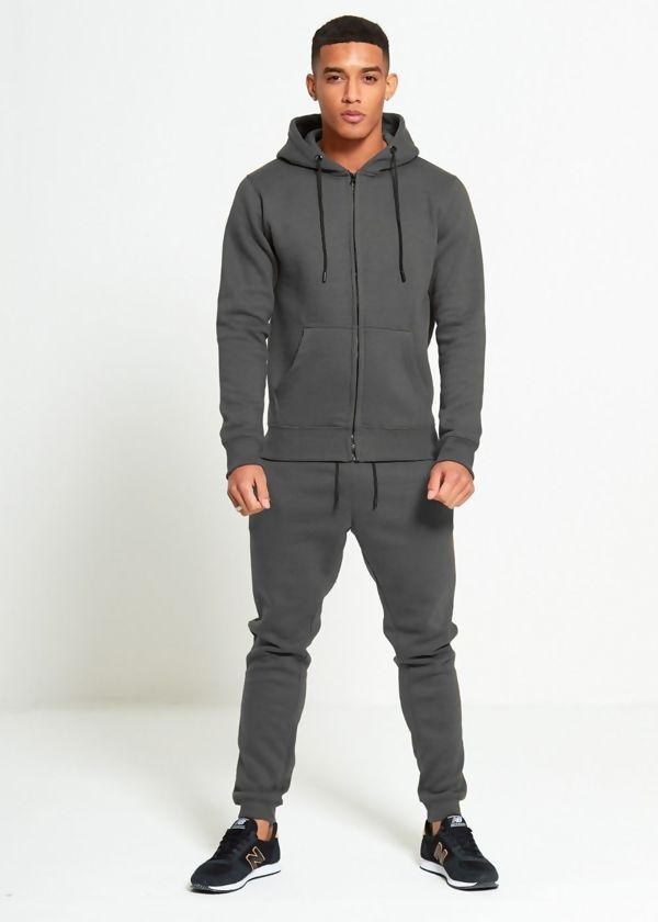 Charcoal Block Hooded Tracksuit