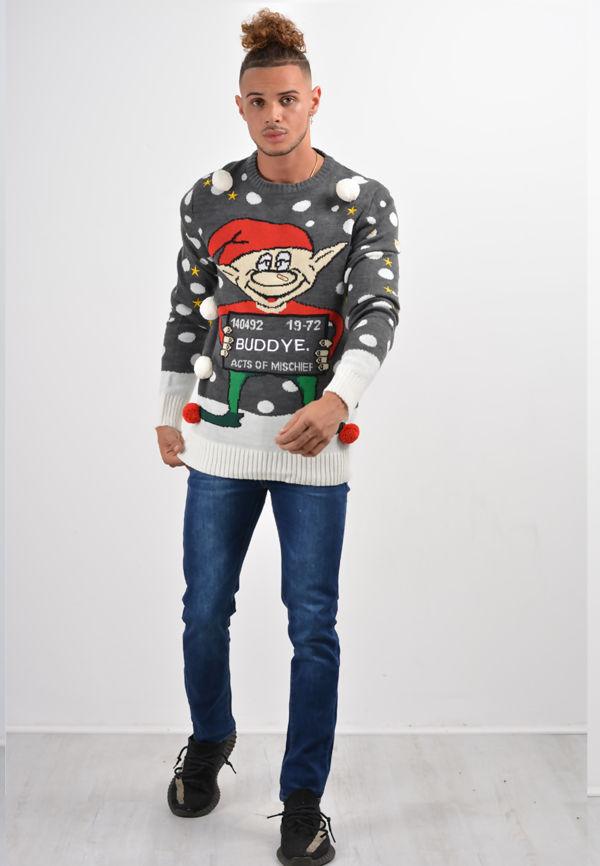 Charcoal Buddy Christmas Jumper