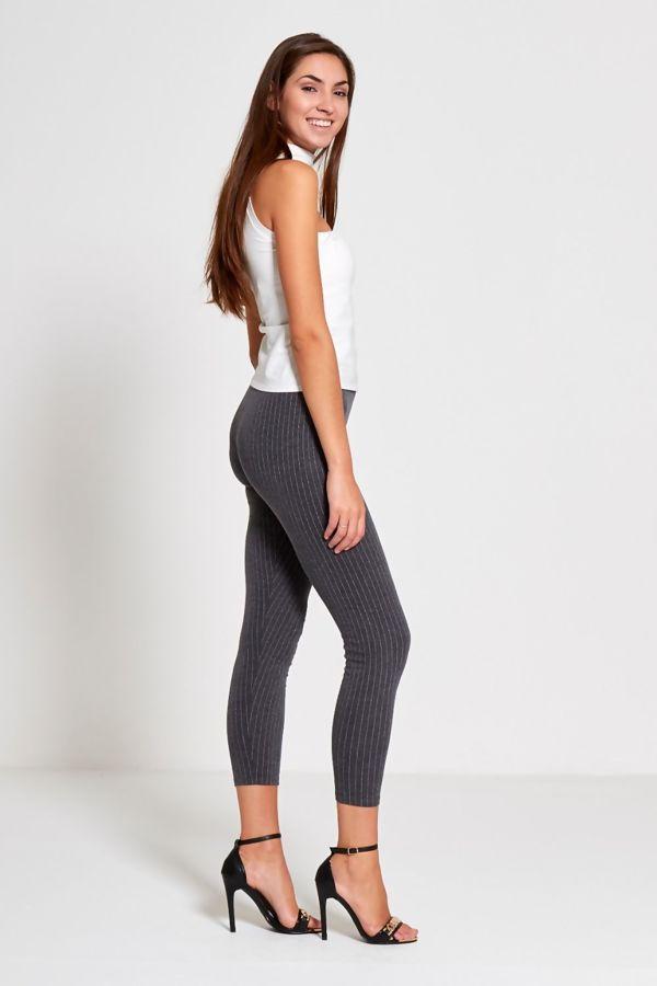 Charcoal Candy Stripe Leggings
