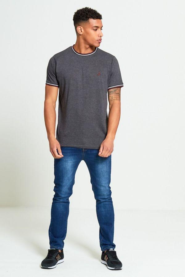 Charcoal Contrast Bird T-Shirt