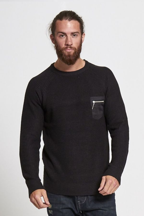 Charcoal Elbow Patch Jumper
