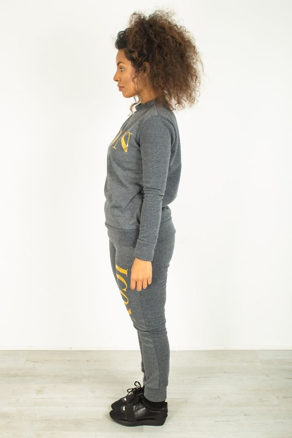 Charcoal Icon Customized Tracksuit