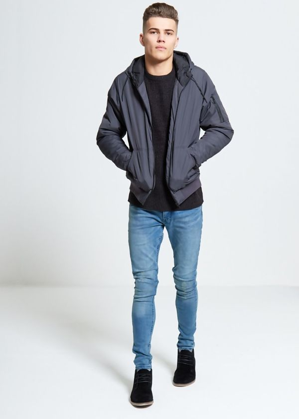 Charcoal Light Weight Bomber Jacket