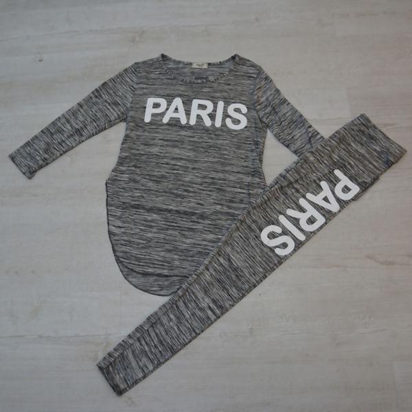 Charcoal Paris Slogan Tracksuit