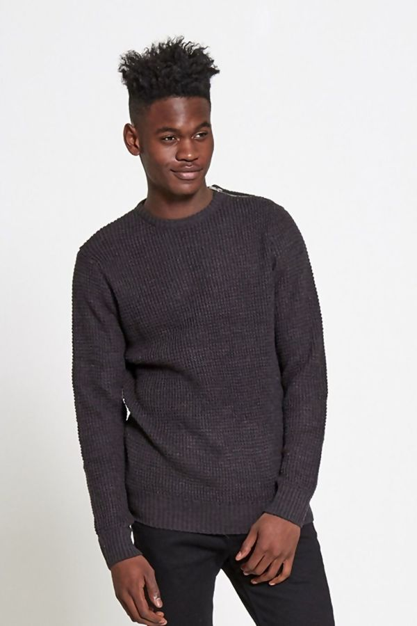 Charcoal Signature Zipper Jumper