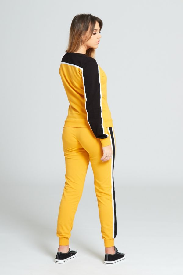 Yellow Stripe Tracksuit