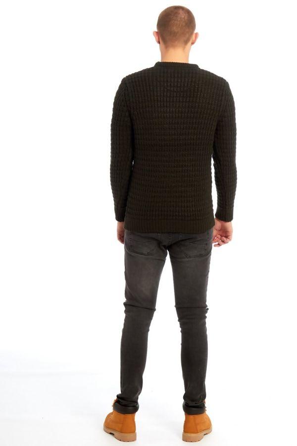 Chunky Khaki Knitted Jumper
