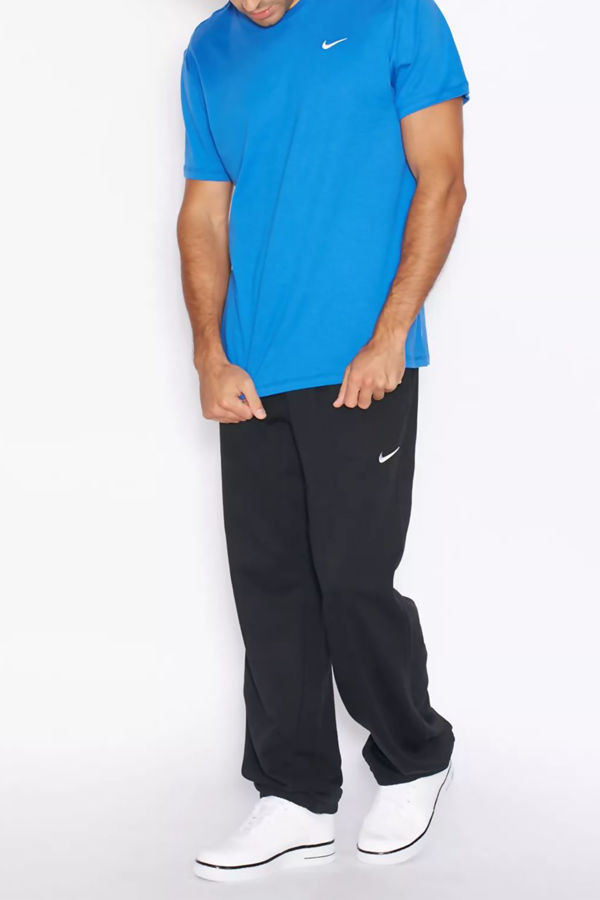 Cobalt Nike T-Shirt With Embroidered Swoosh