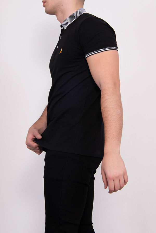 Contrast Trim Short Sleeve Polo Shirt