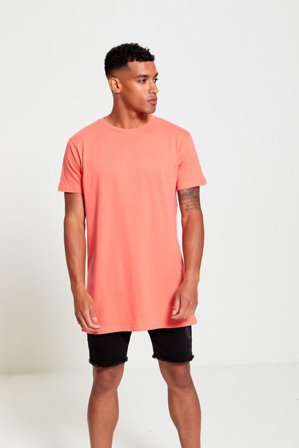 Coral Longline Basic Block Coral T-Shirt