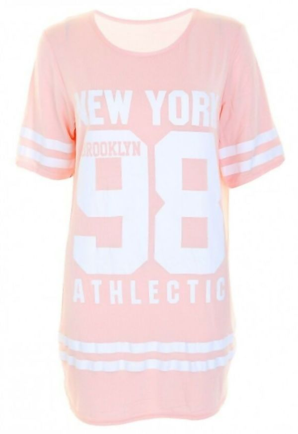 Coral New York 98 Oversize T-Shirt
