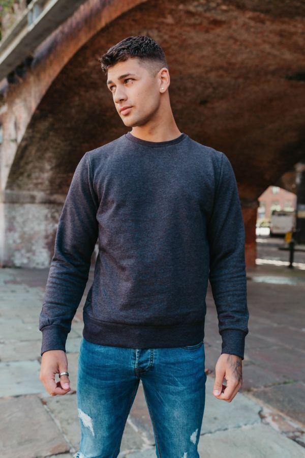 Cotton Marl Crew Neck Sweatshirt
