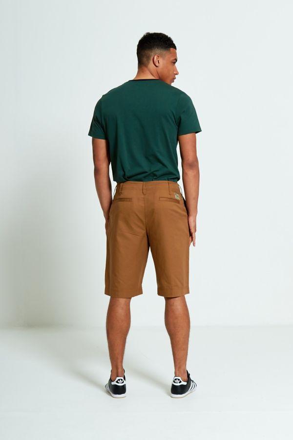Brown Twill Chino Shorts