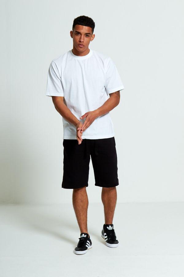 Black Sport Stripe Sweat Shorts Set
