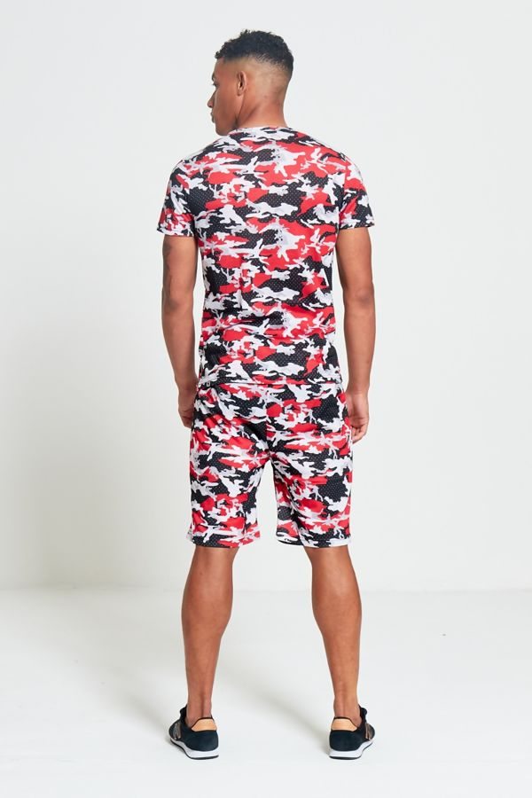 Red Camo T-Shirt and Short Set