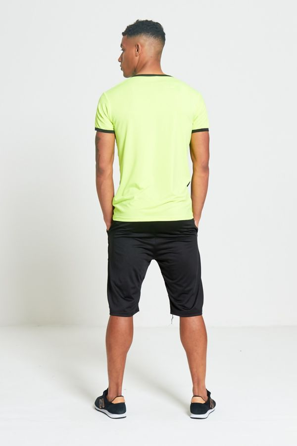 Green Polyester Sports T-Shirt and Short Set