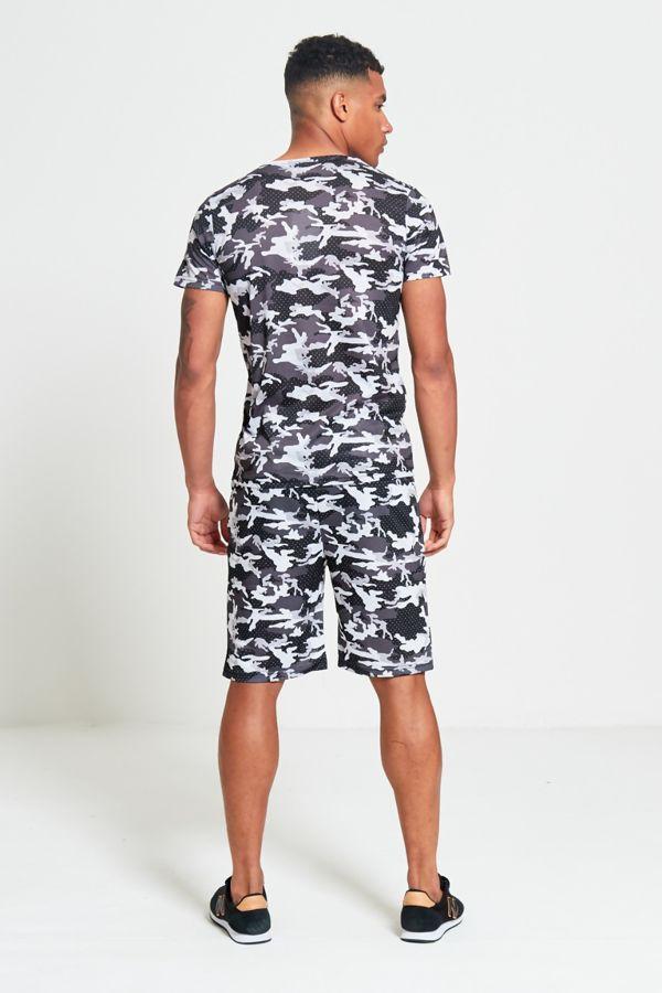 Black Camo T-Shirt and Short Set