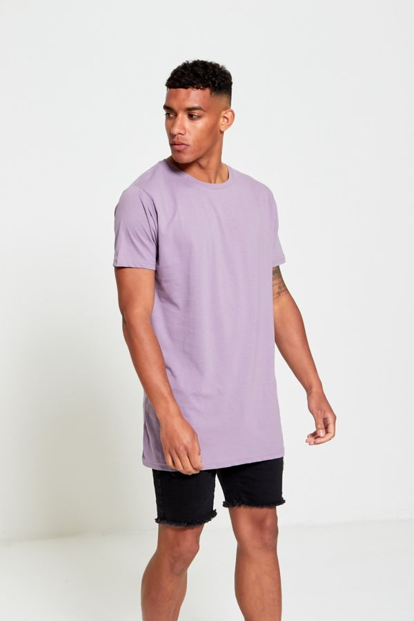 Lilac Longline Basic Block T-Shirt