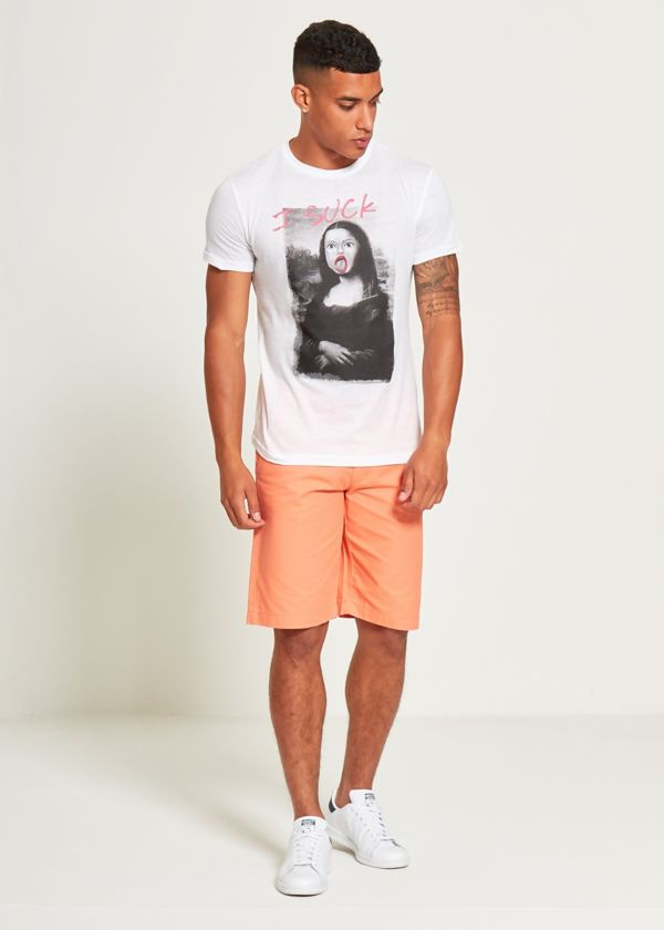 White Mona Lisa T-Shirt