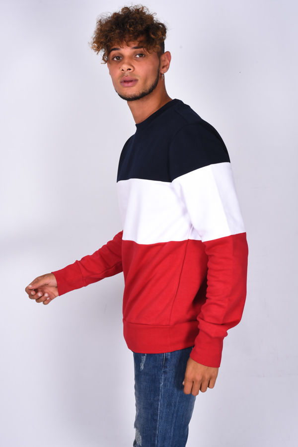 Crew Neck Colourblock Sweatshirt