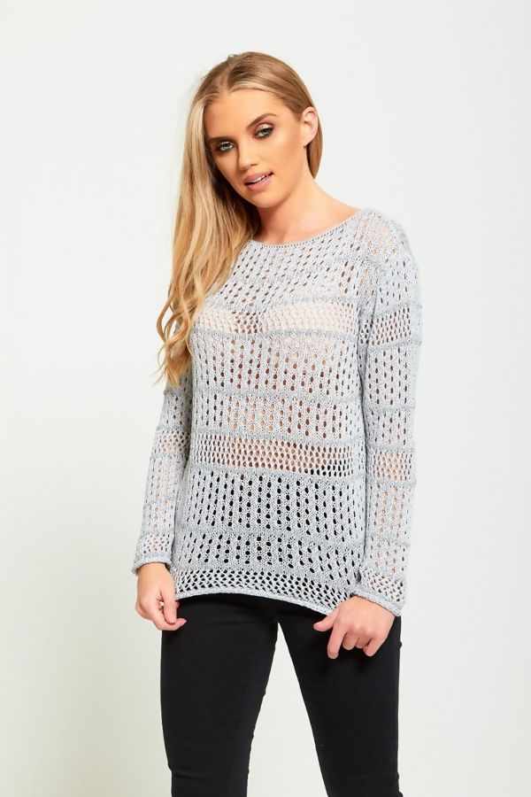 Crochet Mesh Loose Knitted Top