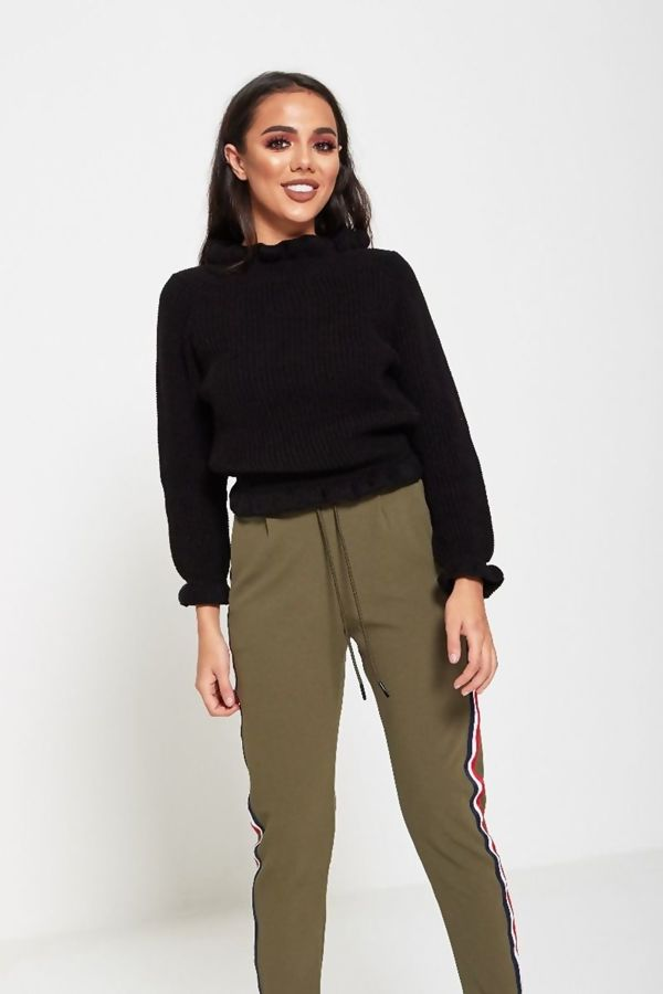 Crop Frill Multi Styled Knit Jumper