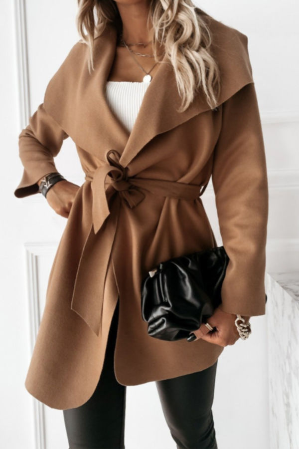Cropped Waterfall Duster Coat