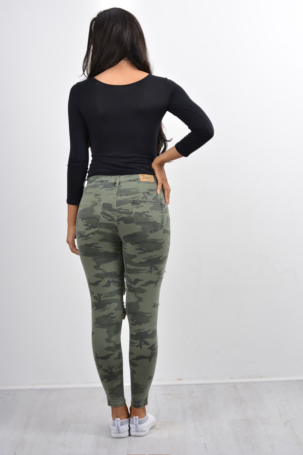 Camo Extreme Distressed Skinny Fit Jeans