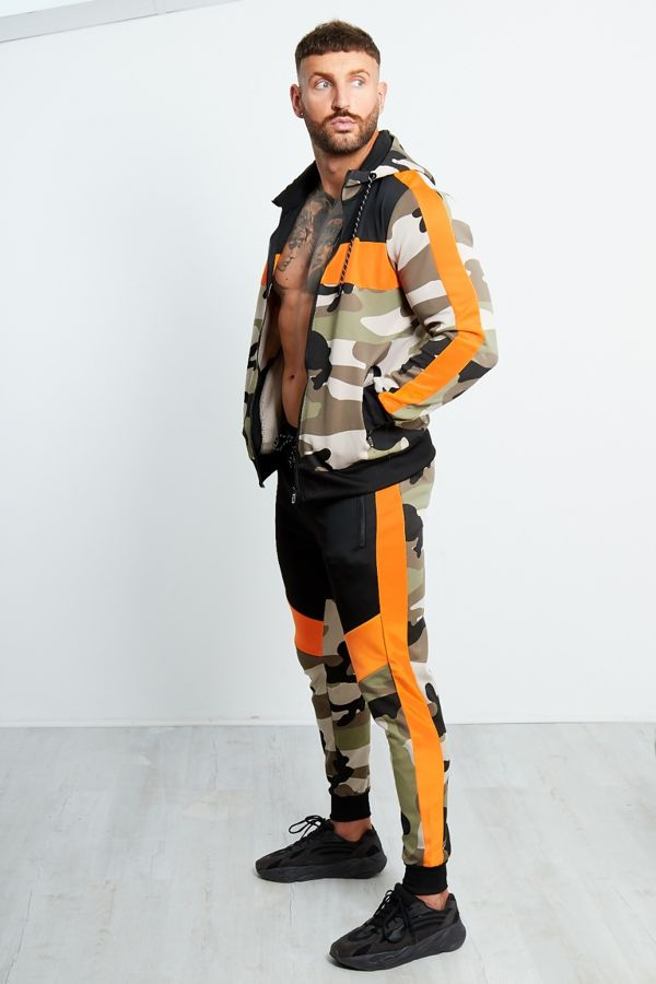 Camo Trio Panel Skinny Fit Tracksuit