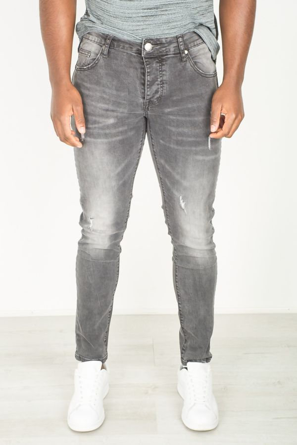 Charcoal Faded Skinny Jeans