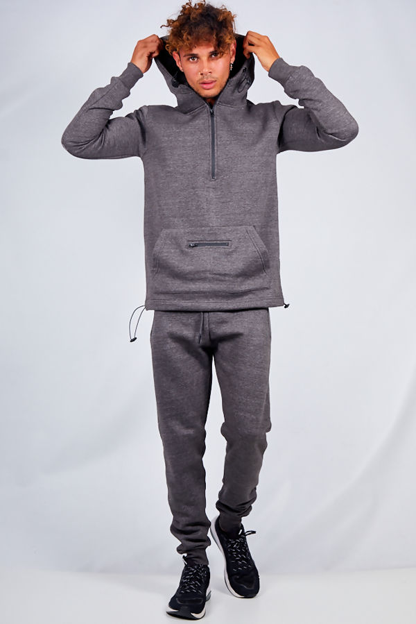 Charcoal Half Zip Pullover Tracksuit