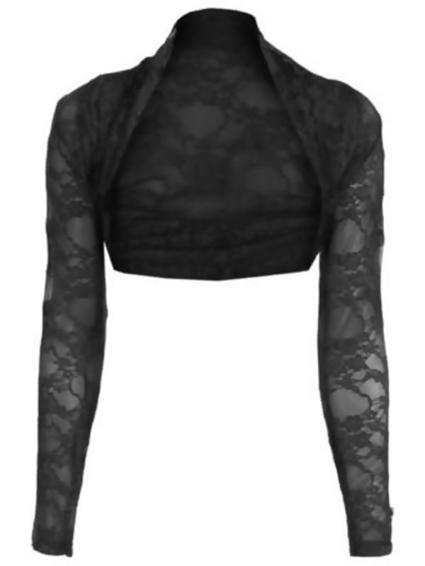 Cropped Lace Bolero Shrug