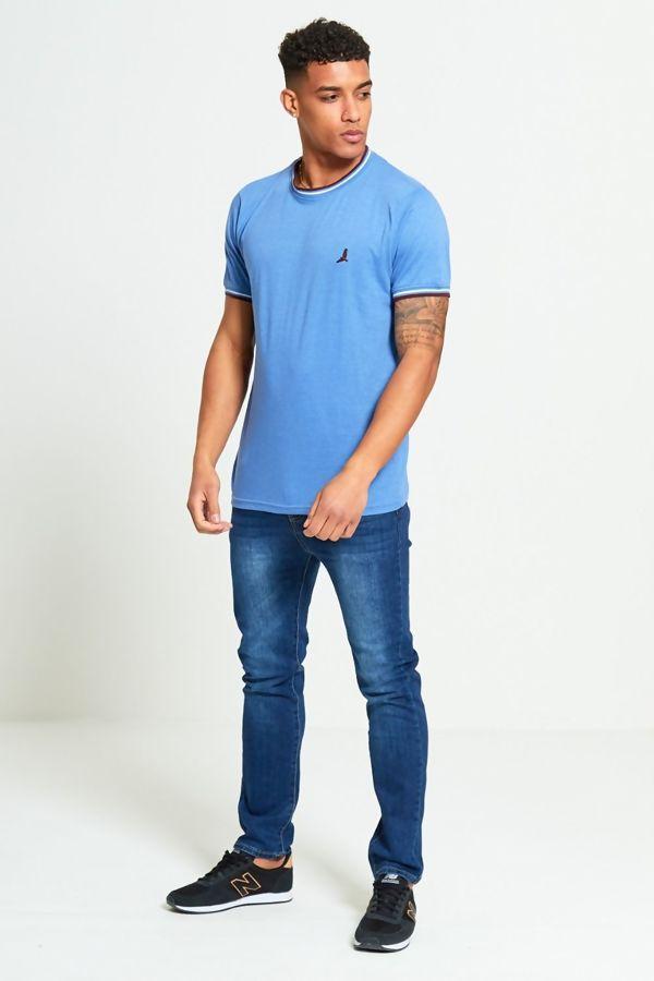 Denim Contrast Bird T-Shirt