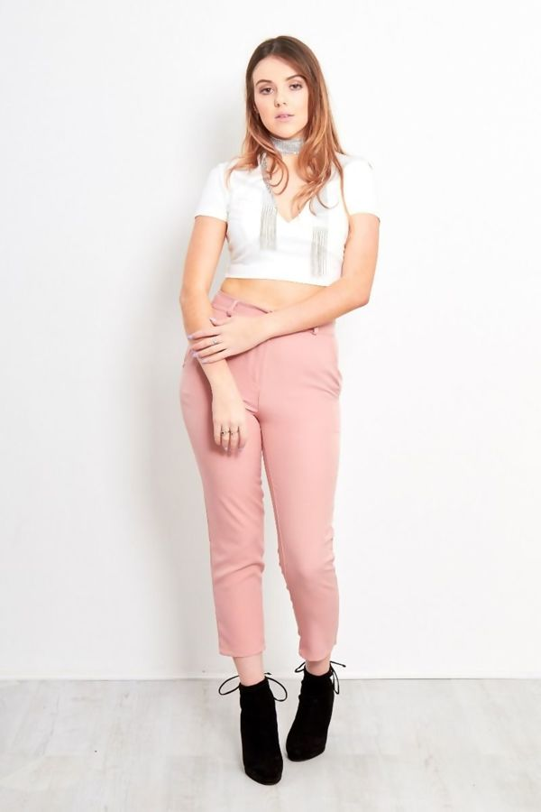 Dusty High Waist Trouser