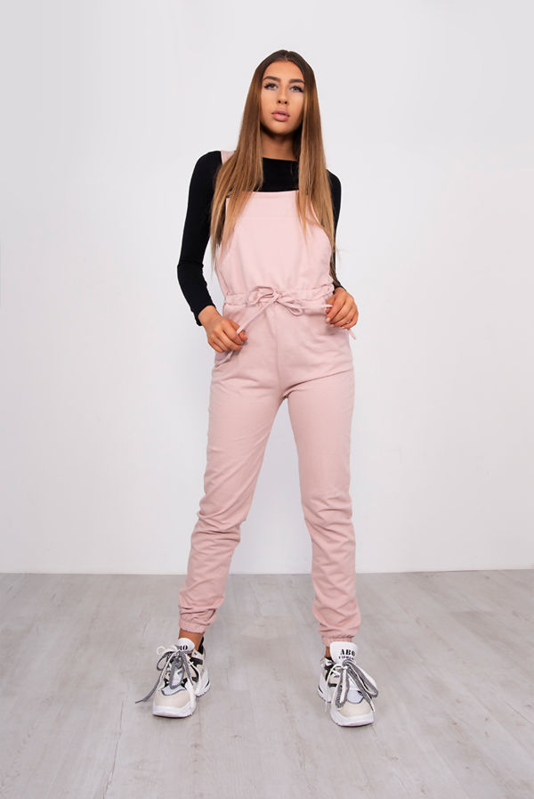 Dusty Jersey Dungaree Jumpsuit