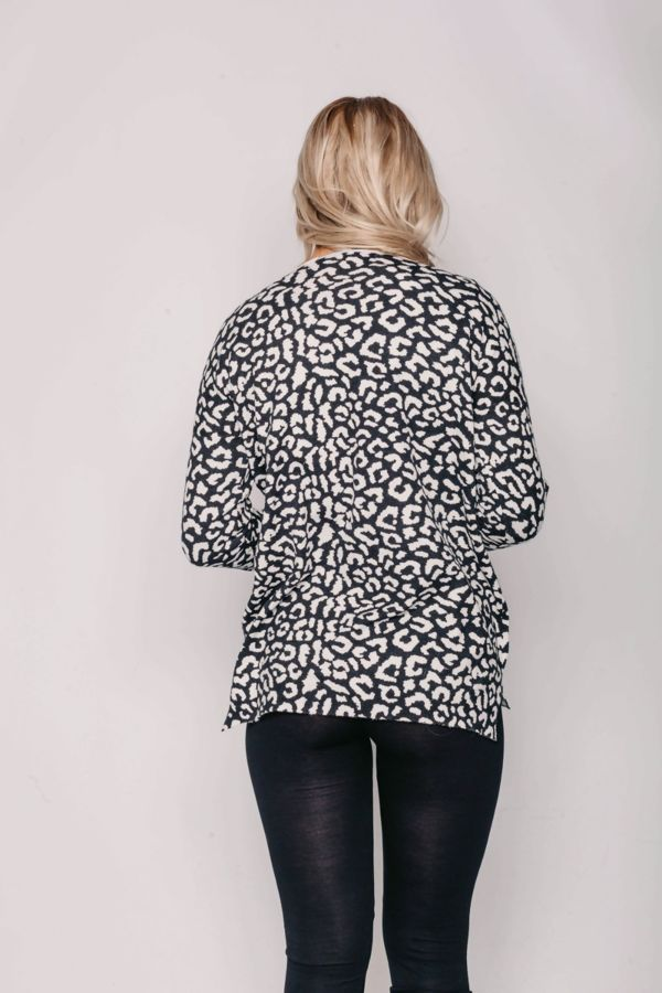 Dusty Leopard Print Long Sleeve Top